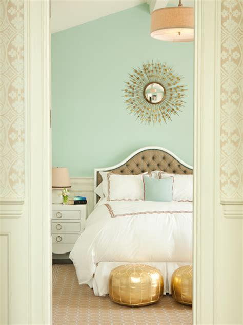 gold paint bedroom ideas leeann thornton designs bedroom bed white linens mint