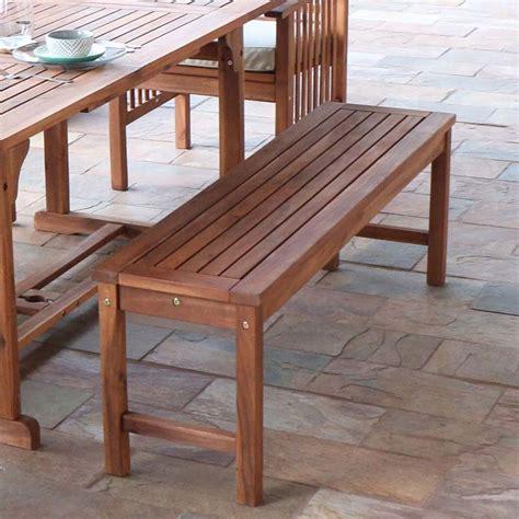 bench walker walker edison acacia wood patio bench brown owb7sbr