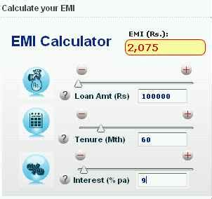 housing loan emi calculation sbi loan emi calculator 2018 2019 studychacha
