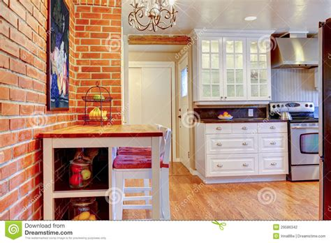 decke klauen white kitchen with brick wall hardwood and stainless