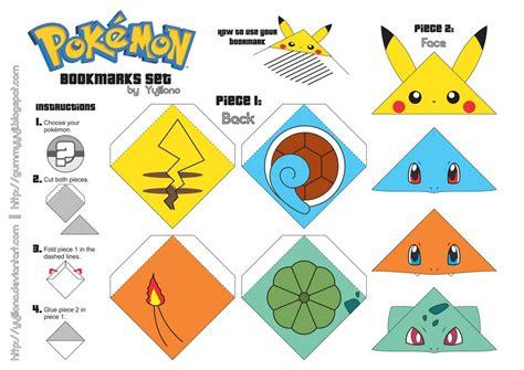 Origami Print Outs - marcadores de p 225 de pok 233 mon pok 233 mon bookmarks and