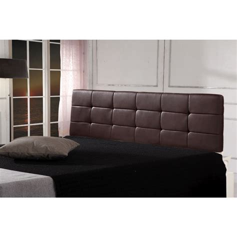 Brown Leather Headboard King by Deluxe King Size Pu Leather Bed In Brown Buy King