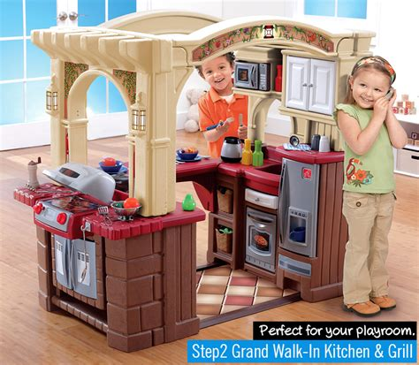step 2 grand walk in kitchen best play kitchen for reviews chainsaw journal