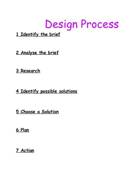 design brief method design process 1