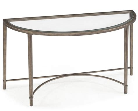 small glass console table furniture two tier brass glass curved demilune console