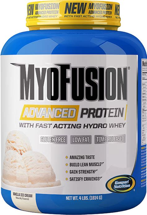 Acting Protein Gaspari Myofusion Advanced Protein Vanilla 4 Lb