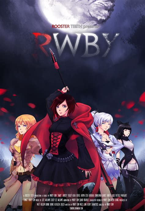 film anime manga rwby movie poster by tsureiyu on deviantart