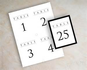 table numbers for wedding reception templates instant pdf digital diy table number template