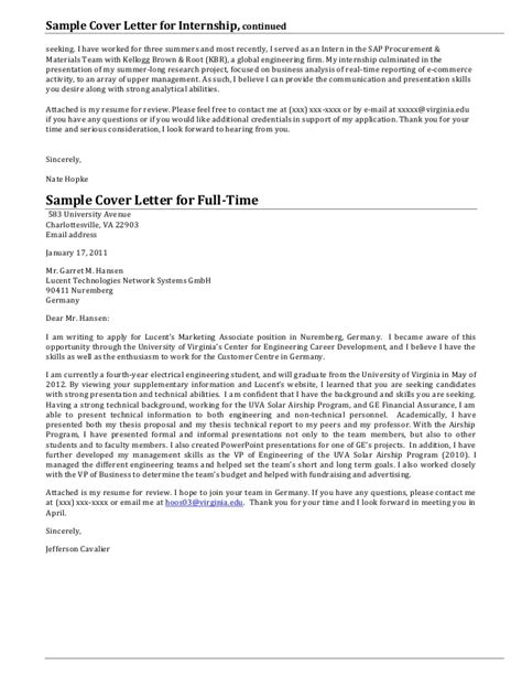 Cover Letter Presentation Exle by Cover Letters You Will Always Need