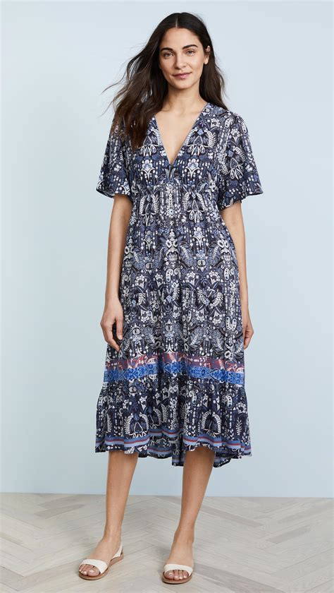 Agatha Dress Blue lyst xirena agatha dress in blue