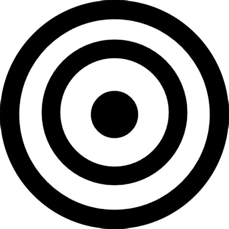 Bullseye Chart Template by Bullseye Icons Free