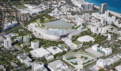 home design miami beach convention center oma proposes radical redevelopment plan for the miami