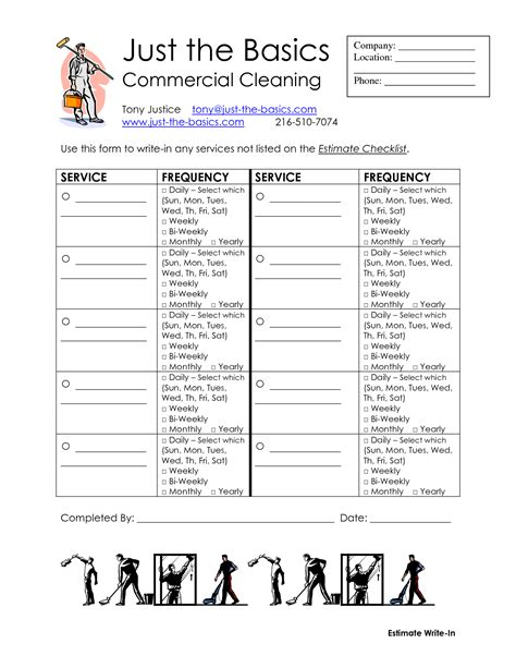 office cleaning list template best photos of commercial cleaning checklist office