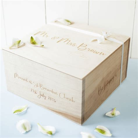 Wedding Keepsake Box Not On The High by Personalised Message Wedding Keepsake Box By Seahorse