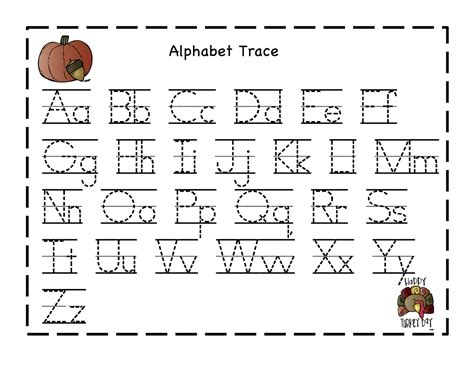 printable alphabet tracing chart preschool printables october 2012
