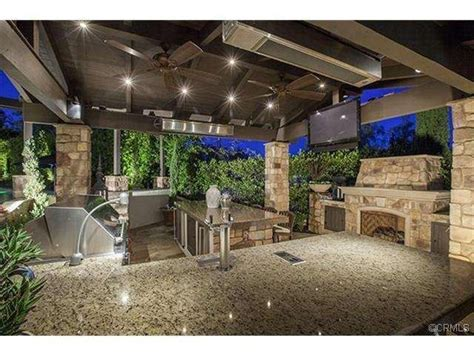 backyard sports bar bbq pavillion with fully functioning kitchen and outdoor