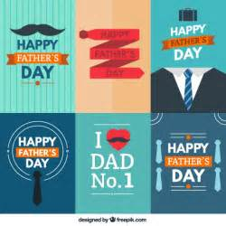 happy fathers day cards collection vector free