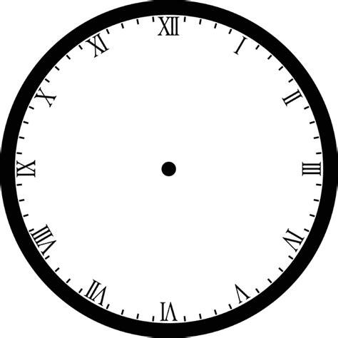 printable clock face roman numerals blank clock clipart etc