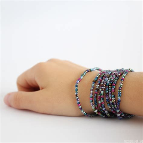 bead and stretch beaded wrap bracelet tutorial kid craft