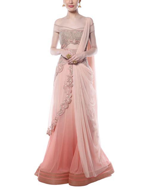 drape saree mandira wirk pink ombre drape saree shop sarees at