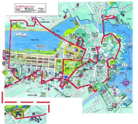 map usa boston boston beantown trolley route map boston massachusetts usa mappery