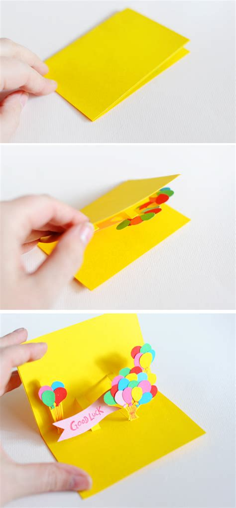 How To Make Handmade Pop Up Birthday Cards - diy pop up cards