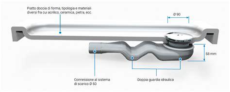montaggio piletta doccia sifone per lo scarico acqua valsir