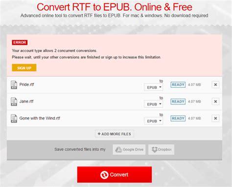 ebook format rtf free rtf to epub converter