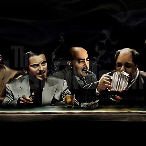 film gangster mafia the last sit down mafia canvas art print by lja canvas art