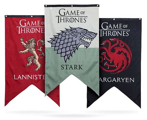 Winter House Decoration Game - game of thrones banners declare your house allegiance technabob