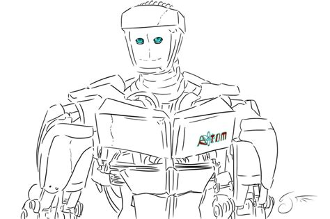 noisy boy coloring page real steel atom by dragongirl508 on deviantart noisy boy