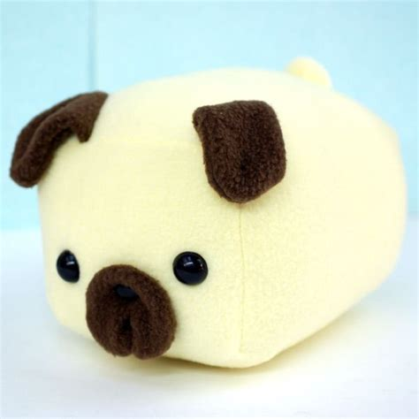 pug plushies pug loaf at shanalogic pug handmade plush collectible plushies figurines