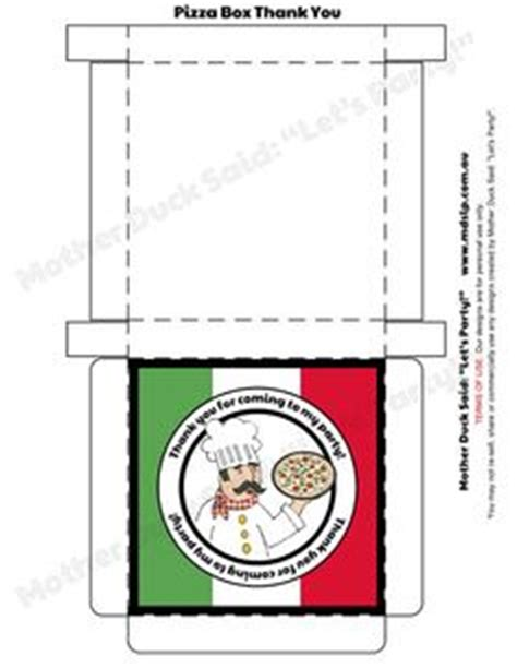 pizza box template pizza birthday theme on pizza
