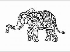Henna Elephant 1 Digital Art by Ricky Barnard Indian Elephant Henna Drawing