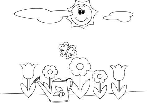 disegni da colorare fiori di primavera disegni sulla primavera da stare e colorare gratis