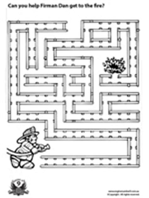 printable fire truck maze engine number 9