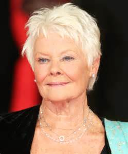 judi dench haircut judi dench hairstyle front and back head short short