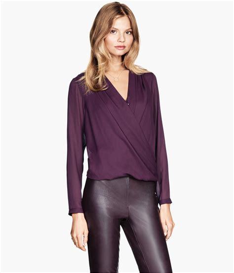 H M Blouse 2 h m draped wrap style blouse 29 95