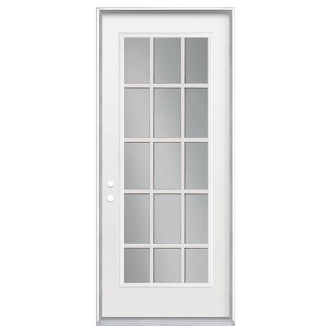 15 Light Exterior Door Shop Reliabilt 15 Lite Prehung Inswing Steel Entry Door Common 32 In X 80 In Actual 33 5 In