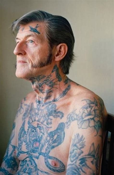 old guy with tattoos this is what your tatt will look like in 40 years 14