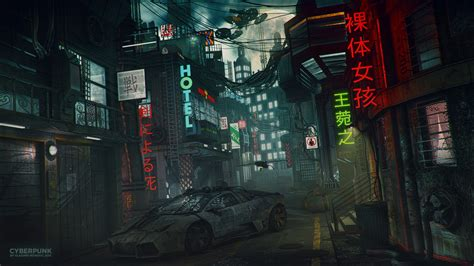 wallpaper engine cyberpunk cyberpunk lamborghini neon wallpapers hd desktop and