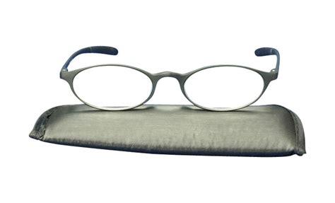 ken black oval bendable reading glasses eyelids