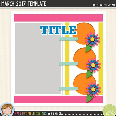free digital scrapbooking template march challenge