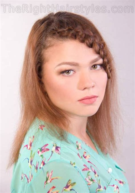 braided hair styles for a rounded face type braided hairstyle for round face the right hairstyles