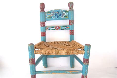Painted Childrens Chairs by Vintage Folk Chair Painted Seat Children S