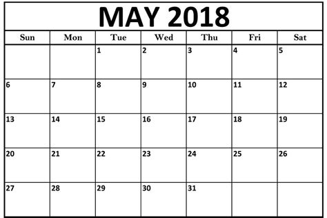 printable calendar 2018 may may 2018 calendar print out printable templates letter
