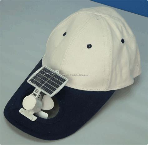 solar hat with a fan to keep you cool new inventions