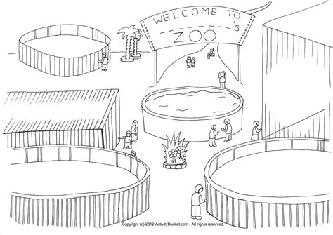 Drawing Zoo by My Zoo Coloring Page Pre K Ideas Zoo