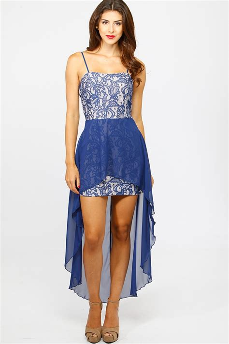 Embroidered Lace High Low Dress @ Cicihot sexy dresses,sexy dress,prom dress,summer dress,spring