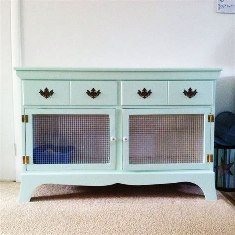diy rabbit hutch repurposed from a dresser bunny